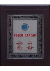 中国铝型材十大影响力品牌