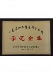 广东省加工贸易转型升级示范企业